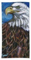 American Bald Eagle Hand Towel by John Keaton