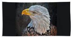 Hand Towel featuring the photograph American Bald Eagle by Savannah Gibbs