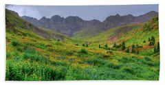 Hand Towel featuring the photograph American Basin Summer Storm by Teri Atkins Brown