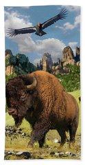 American Bison Bath Towel