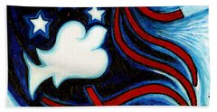 Bath Towel featuring the painting American Dove by Genevieve Esson