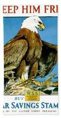 American Eagle, Keep Him Free, War Savings Stamps Bath Towel