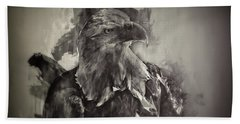 Bath Towel featuring the photograph American Eagle Monochrome by Jack Torcello