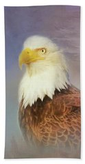 Bath Towel featuring the painting American Eagle by Steven Richardson