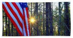 American Flag Hand Towel