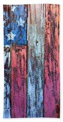 American Flag Gate Bath Towel