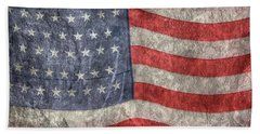 American Flag Bath Towel by Randy Steele