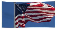 American Flag Hand Towel by Tara Lynn