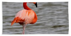 American Flamingo Bath Towel by Meg Rousher