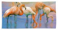 American Flamingos Hand Towel