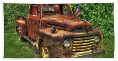 American Ford 1950 F-1 Ford Pickup Truck Art Bath Towel