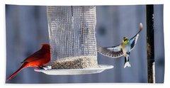 American Goldfinch Inbound Hand Towel