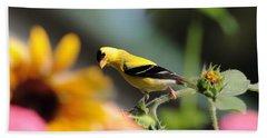 American Goldfinch Bath Towel