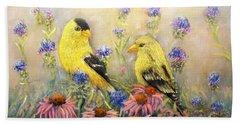 American Goldfinch Pair Bath Towel