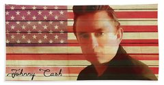 American Icon Johnny Cash Hand Towel