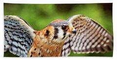 American Kestrel - Bird Of Prey Bath Towel
