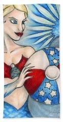 American Mermaid Hand Towel