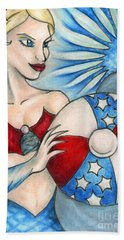 American Mermaid Bath Towel
