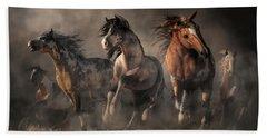 American Paint Horses Bath Towel