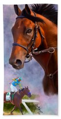 American Pharoah Bath Towel