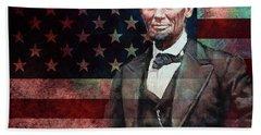 American President Abraham Lincoln 01 Bath Towel by Gull G