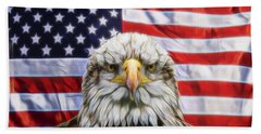 Hand Towel featuring the photograph American Pride by Scott Carruthers