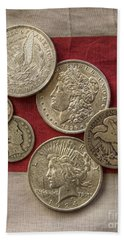 American Silver Coins Hand Towel