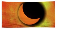 Hand Towel featuring the photograph American Solar Eclipse Into Art by Aaron Berg