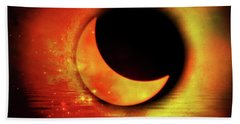 Hand Towel featuring the photograph American Solar Eclipse Turned Into Art  by Aaron Berg