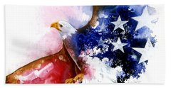 American Spirit Hand Towel by Sherry Shipley