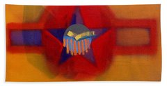 Hand Towel featuring the painting American Sub Decal by Charles Stuart