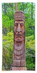Native American Totem Bath Towel