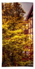 Hand Towel featuring the photograph American Tudor - The Beauty Of Autumn by Miriam Danar