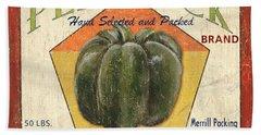 Americana Vegetables 1 Hand Towel