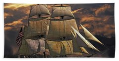 America's Ship Hand Towel