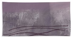Amethyst 1- Abstract Art By Linda Woods Bath Towel