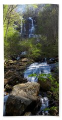 Hand Towel featuring the photograph Amicalola Falls by Dan Wells