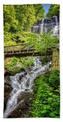 Hand Towel featuring the photograph Amicalola Falls Top To Bottom by Debra and Dave Vanderlaan