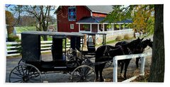 Amish Country Horse And Buggy Hand Towel