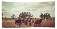 Bath Towel featuring the photograph Amish Farming by Joel Witmeyer