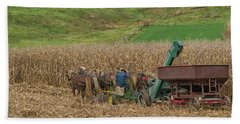 Amish Harvest In Ohio  Bath Towel