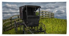 Amish Horse Buggy Hand Towel