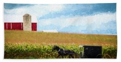 Bath Towel featuring the digital art Amish Paradise by Joel Witmeyer