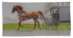 Amish Sunday Ride Hand Towel