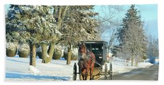 Amish Winter Hand Towel