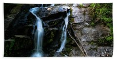 Hand Towel featuring the photograph Ammon Creek Falls by Barbara Bowen
