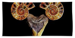 Ammonite On Megolodom - 8283 Hand Towel