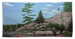 Among The Rocks II Hand Towel by Kenneth M  Kirsch