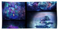 Bath Towel featuring the digital art Among The Stars Series by Mo T