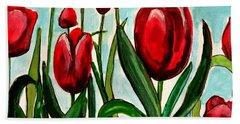 Among The Tulips Hand Towel